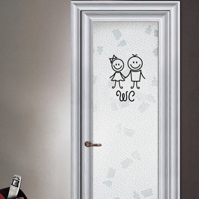 Cartoon WC Door Stickers 6