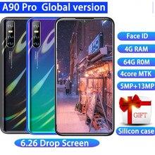 Smartphone a90 pro versão global, celular com android, tela de 6.26