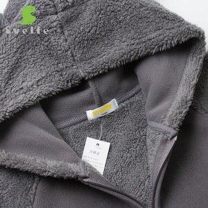 Image 5 - Svelte outono inverno para crianças para meninos pele de lã macia com capuz meninas jaqueta com capuz outerwear casaco roupas com orelhas de urso dos desenhos animados