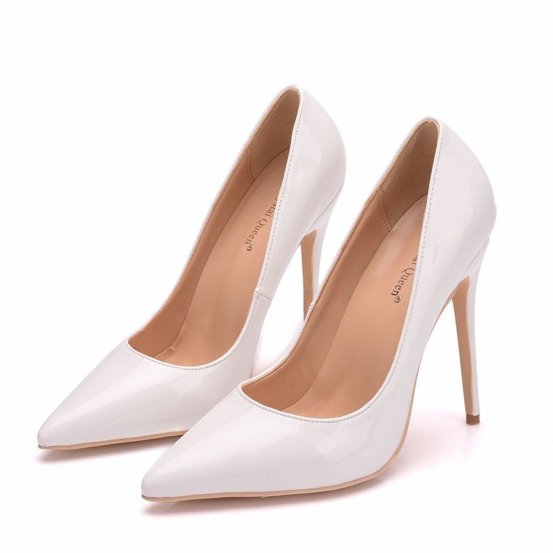Wonen Pumps Fashion Office Shoes PU Pointed Toe Thin <font><b>Heels</b></font> <font><b>12CM</b></font> Women <font><b>Sexy</b></font> <font><b>High</b></font> <font><b>Heels</b></font> Shoes Women's Wedding Shoes Party image