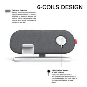 Image 3 - MFi Wireless Charger 3 in 1 Charging Pad 30W Fast Charger for iPhone 11 Pro  Airpods Pro Watch Series 5 4 3 2 Wireless Charger