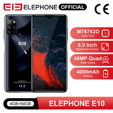 ELEPHONE E10 4GB 64GB Smartphone Octa Core 6.5″ Screen Quad Camera 48MP Main Cam Android 10 NFC Side Fingerprint Mobile Phone