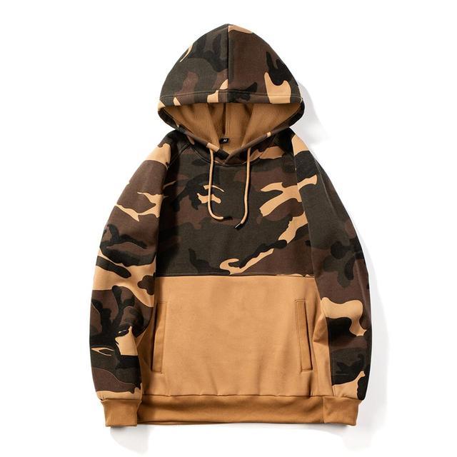 Army Sweatshirt Men Brand Fleece Warm Patchwork Hoodies Long Sleeve Hooded Sweatshirt Male Autumn Winter Camouflage Men Outwear