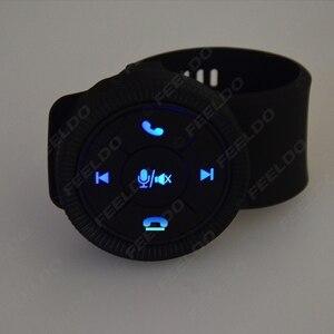 Image 3 - MOTOBOTS 1 مجموعة جديدة 7 مفتاح سيارة لاسلكية عجلة القيادة زر التحكم مع الراتنج حزام للسيارة أندرويد DVD/لتحديد المواقع لاعب الملاحة