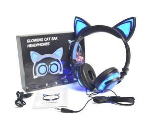 Image 5 - LIMSON Wired Stereo Del Fumetto Per Bambini Auricolare Pieghevole LED Lampeggiante Cat Ear Cuffie Carino per i bambini
