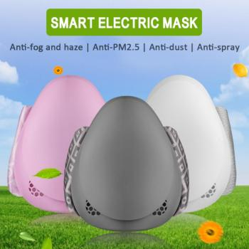 Smart Electric Face Mask Anti Dust Automatic Air Supply Adult Electronic Face Mouth Mask Reuseable Dustproof Waterproof 1