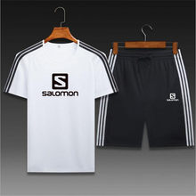 2021 new breathable and sweat-absorbent comfortable sports and leisure short sleeve + shorts suit sports running wear