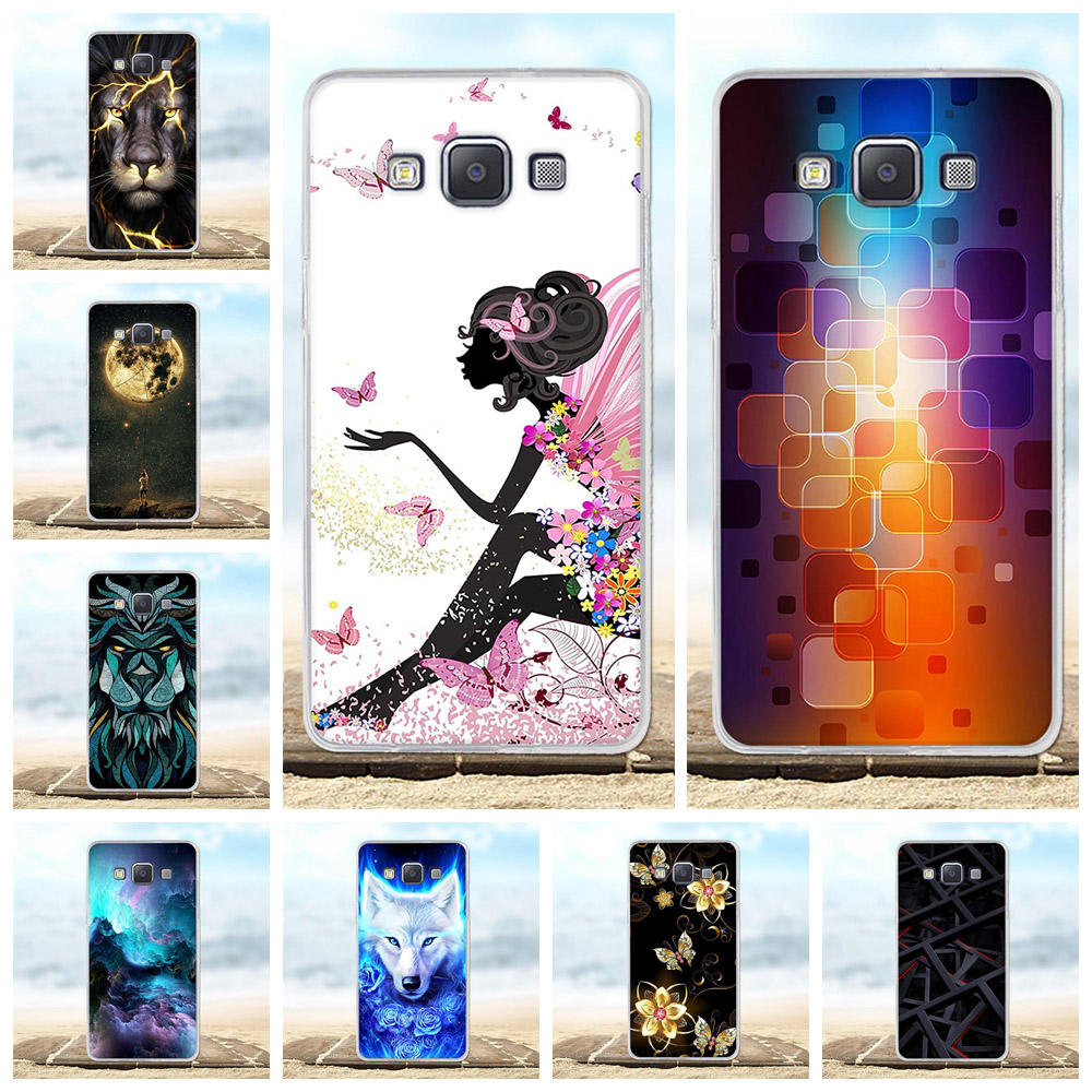 For <font><b>Samsung</b></font> Galaxy A5 Case Soft TPU Silicone For <font><b>Samsung</b></font> Galaxy A5 A500F <font><b>A500FU</b></font> Cover Animal Pattern For <font><b>Samsung</b></font> Galaxy A5 Capa image