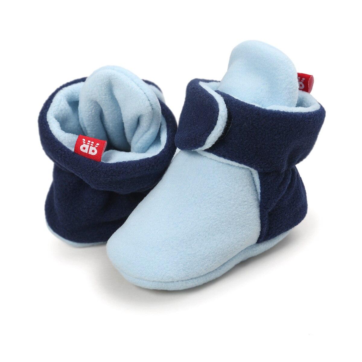 quente macio anti-deslizamento infantil berço sapatos