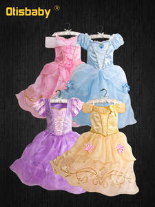Fairy-Costume Belle Dress-Up Fantasia Sofia Rapunzel Princess-Dress Halloween Baby-Girls
