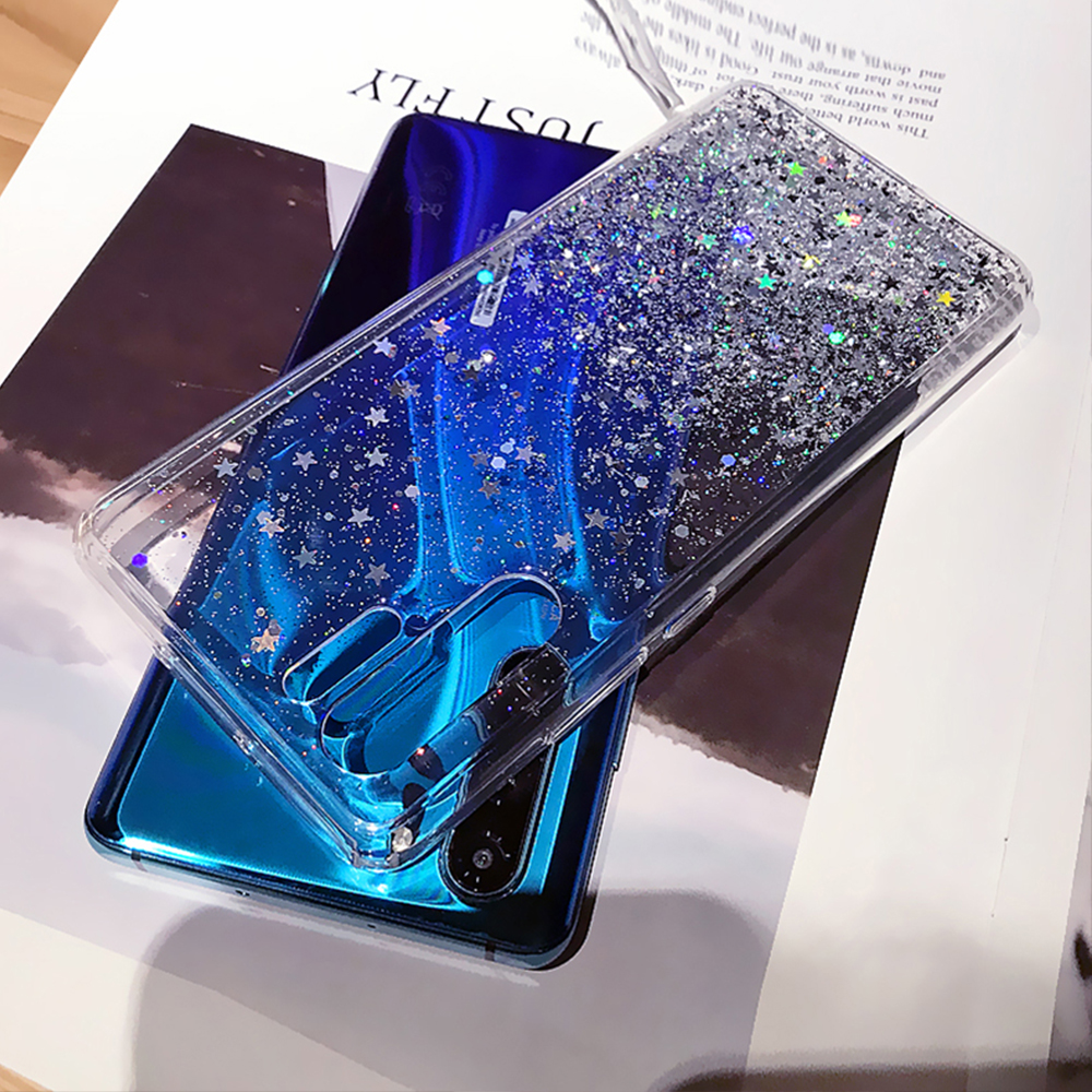 <font><b>Glitter</b></font> Star Clear Phone Cover For <font><b>Huawei</b></font> Mate 10 20 30 P10 <font><b>P20</b></font> P30 <font><b>Lite</b></font> Pro Honor 8 8X 9 10 20 Pro Nova 2S 3 3i Soft TPU <font><b>Cases</b></font> image