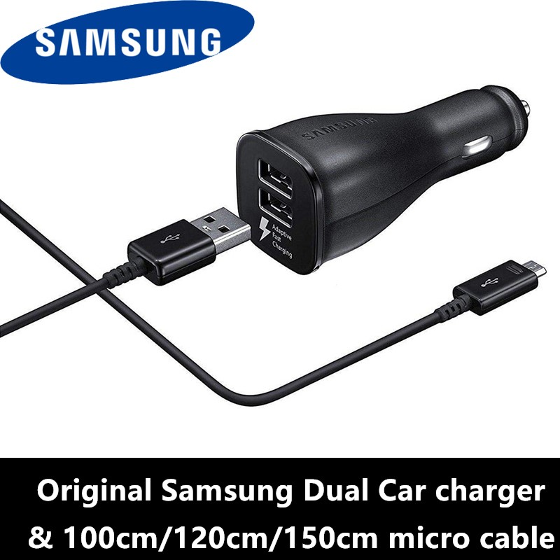 Samsung Fast Car <font><b>Charger</b></font> Original 9V/1.67A Dual Car cahrge adapter USB for <font><b>Galaxy</b></font> a8 <font><b>a9</b></font> j3 j5 j7 a3 a5 a7 2016 s7 s6 edge note 4 image