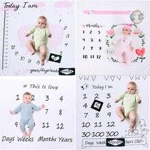 Baby Milestone Blankets Newborn Cute Flo