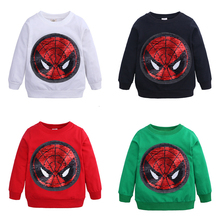 Pattern Can Be Changed Kids Boys Long Sleeve T Shirt Girls Tops Spiderman Change Captain America Tee T-shirt Children Clothes цена 2017