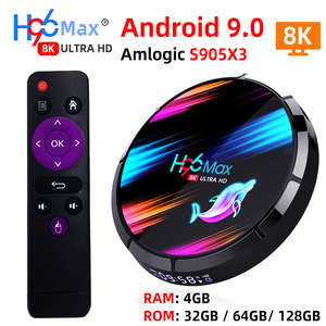 Image 1 - صندوق تلفاز ذكي H96 MAX X3 أندرويد 9.0 مع ذاكرة الوصول العشوائي 4G ROM 32G 64G 128G Amlogic S905X3 2.4G WIFI BT4.0 جوجل ميديا بلاي Andorid صندوق التلفزيون