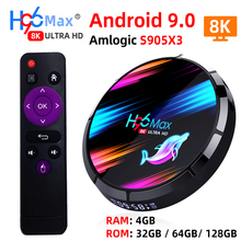 Smart TV Box H96 MAX X3 Android 9.0 z RAM 4G ROM 32G 64G 128G procesor Amlogic S905X3 2.4G WIFI BT4.0 Google odtwarzanie multimediów z systemem Android TV Box