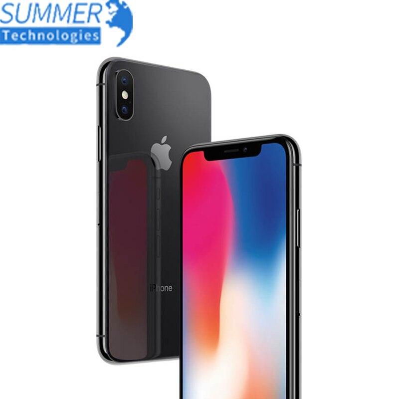 """Débloqué Original débloqué Apple iPhone X Hexa Core Smartphone téléphone 256 GB/64 GB ROM 3GB RAM double caméra arrière 12MP 5.8 """"4G LTE"""