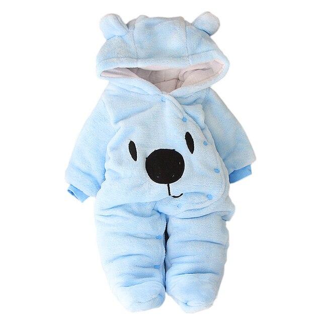 Kobay Kinder M/ädchen Jungen Kaninchen Mit Kapuze Strampler Winter Plus SAMT Verdickung Warme Kleidung Overall