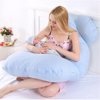 Pregnancy and Lactation Cushion Pillows Breastfeeding Pillow Baby Accessories Maternity Belt Body Women Pregnant Side Sleepers цена 2017
