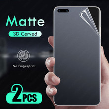 Матовая Гидрогелевая пленка для Huawei P40 P30 P20 Mate 40 30 20 Honor 20 10 10i 8X 9X Pro Lite, пленка для экрана с фиолетовым и зеленым светом, 2 шт.