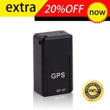 Gf07 gsm gprs mini carro magnético gps anti-perdido gravação em tempo real dispositivo de rastreamento localizador rastreador suporte mini cartão tf