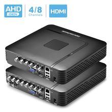 BESDER 4 ערוץ 8 ערוץ AHD DVR מעקב אבטחת CCTV מקליט DVR 4CH 720P / 8CH 1080N היברידי DVR עבור אנלוגי AHD IP