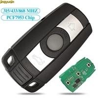 Jingyuqin controle remoto para bmw  controle remoto  fsk cas3 315/433/868mhz  pcf7953  para bmw 1 3 5 7 séries x5 x6 z4 entrada de chave inteligente