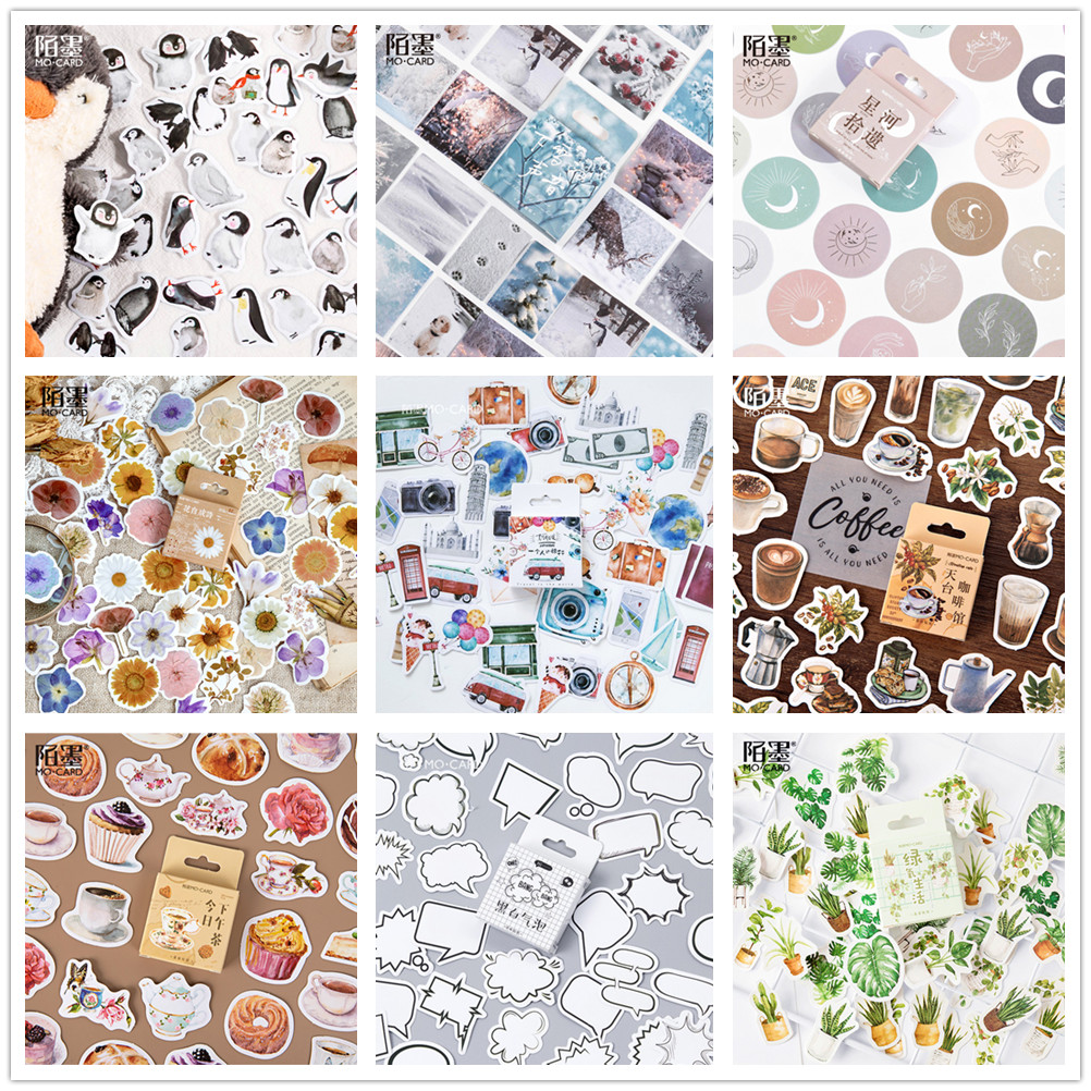 (42 arten können Wählen) wald Stempel Boxed Aufkleber DIY Scrapbooking Papier Tagebuch Planer Album Vintage Dichtung Dekoration @ TZ-0