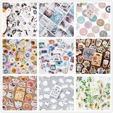 (42 puede elegir los estilos) pegatinas en caja de sello de bosque bricolaje álbum de recortes papel planificador diario álbum Vintage sello decoración @ TZ-0