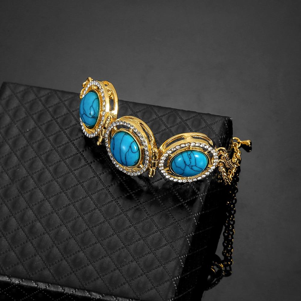 Top Crystal Men Turkish Allah Jewelry Bracelet Gold Color Muslim Islam Bracelet Women Africa/ Arab/Middle East Jewelry Wholesale