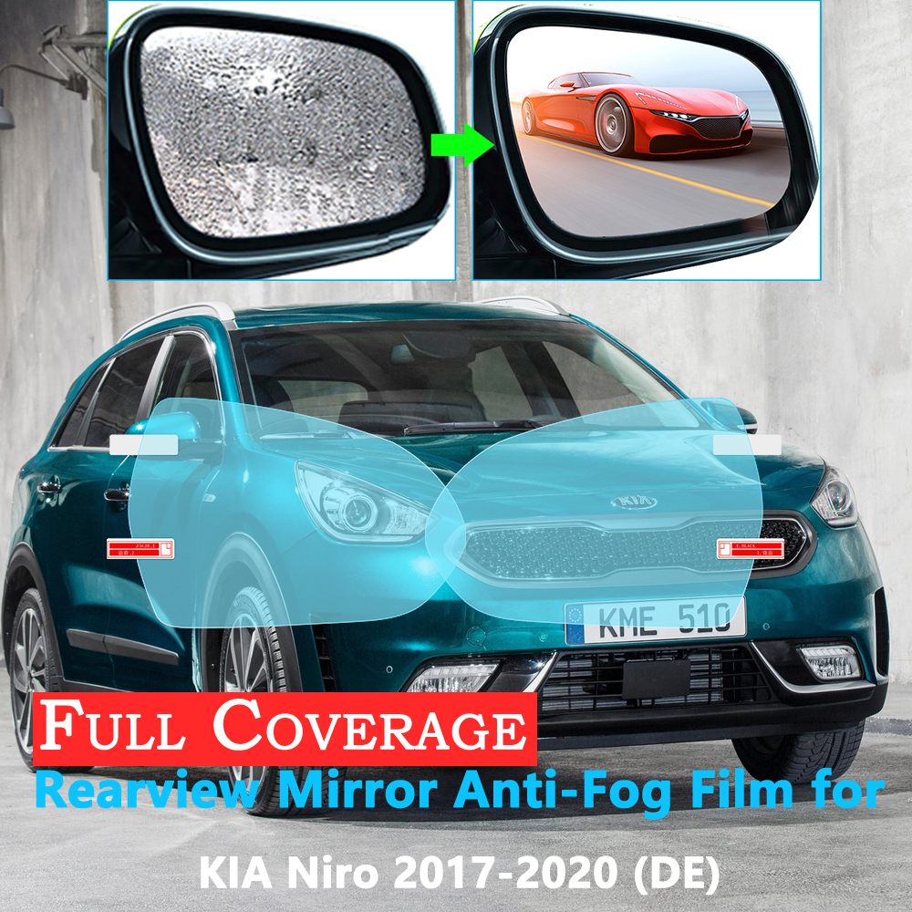 Full Cover Protective Anti Fog Film For KIA NIRO DE 2017 2018 2019 2020 Car Rearview Mirror Rainproof Accessories Car Stickers