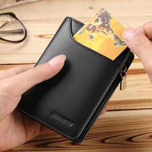 Image 5 - 本革メンズ財布カードホルダー男高級短財布財布ジッパー財布カジュアル標準財布 pl293