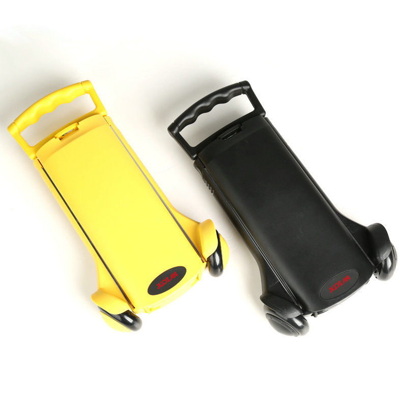 Aluminum Alloy Small Shopping Cart, Portable Folding Luggage Trailer, School Bag Mini Trolley