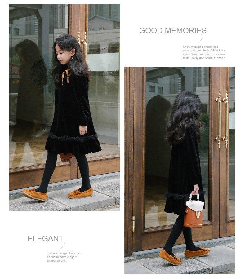 Teenage Kids Girls Winter Dress Fleece 2019 New Baby Girl Autumn Dress Black Kids Casual Dress Girl Children Top Toddler Dresses (12)