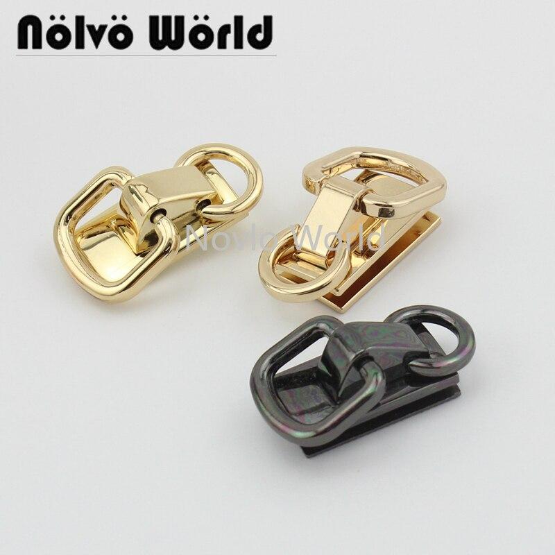 2 Pieces Test, 3 Colors, 31*18mm, Metal D Ring Hanger Connectors Bag Handle Buckle Diy Hardware Accessories