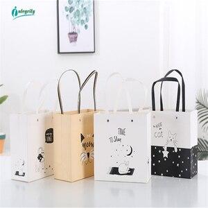 Image 2 - יושרה 1pcs השיש דפוס נייר תיק יד שקיות מתנת חתונה מתנות תיק מסיבת יום הולדת נייר תיק שקיות Tote יכול להיות מותאם אישית