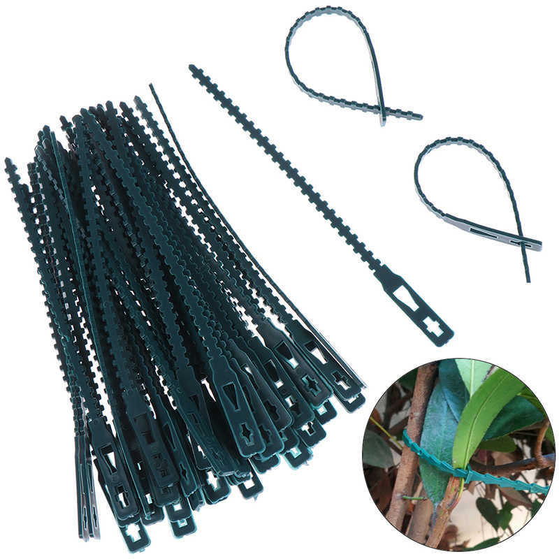 Details about  /50pc Plastic Plant Cable Ties Adjustable Tree Climbing Support Gardening Tools