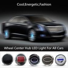 цена на Hub Light Lamp 4PCS Car Floating Illumination Wheel Center Caps LED Light Cover Lighting Energy Flash Auto Car Styling Accessory