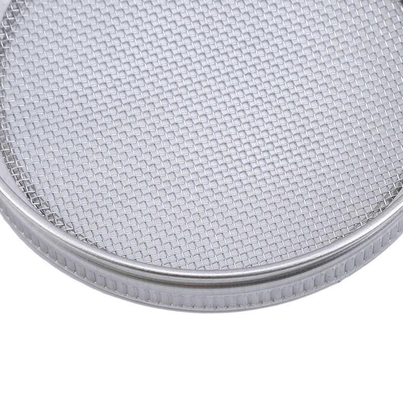 ステンレス鋼ストレーナフィルターネットカバー種子発芽画面発芽蓋ラウンド口缶詰瓶