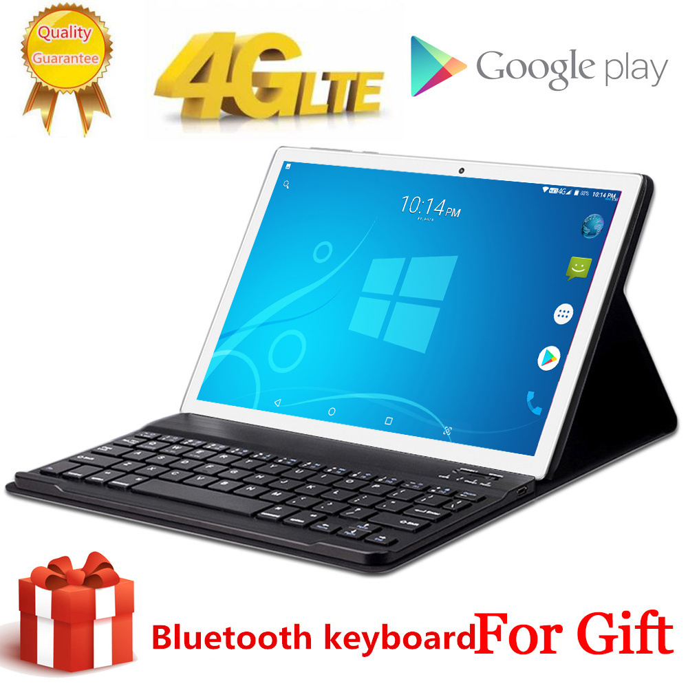 Free Gift Bluetooth Keyboard 4G LTE 10.1 Inch 2.5D Glass Tablet Pc 10 Deca Core MTK6797 8GB RAM 256GB ROM 1920*1200 Android 8.0