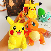 Pokemon Plush Dolls TAKARA TOMY Mini Pendant Toy Cartoons Anime Cute Pikachu Stuffed Keychain Kawaii Doll Girl Gift Kids Toys