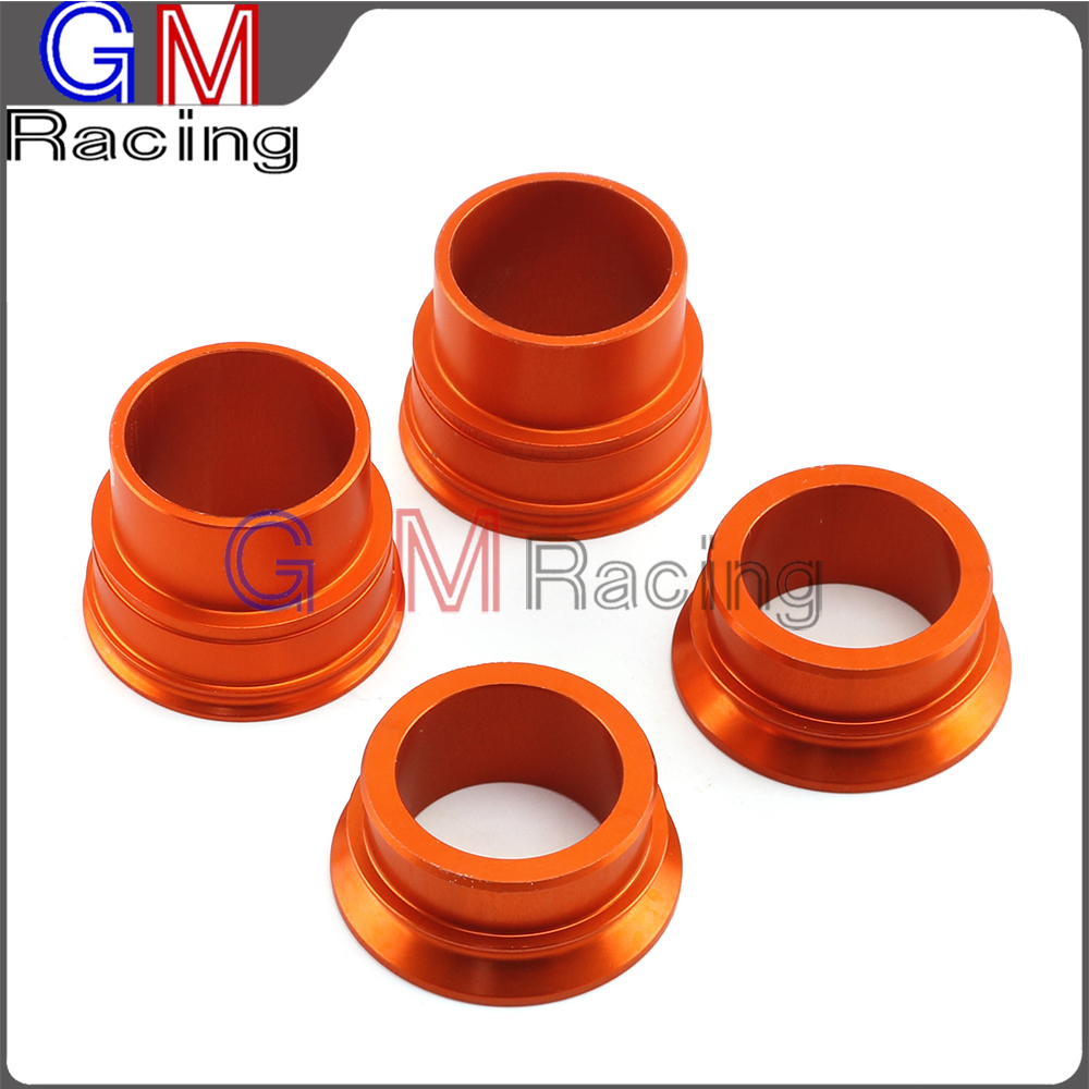 CNC Aluminum Front Rear Wheel Hub Spacers For <font><b>KTM</b></font> SX SXF XCF 125 150 200 250 300 <font><b>350</b></font> 400 450 2013 <font><b>2014</b></font> Motorcycle Dirt Bike image
