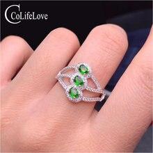 Ювелирные изделия colife chrome кольцо из диопсида для повседневной