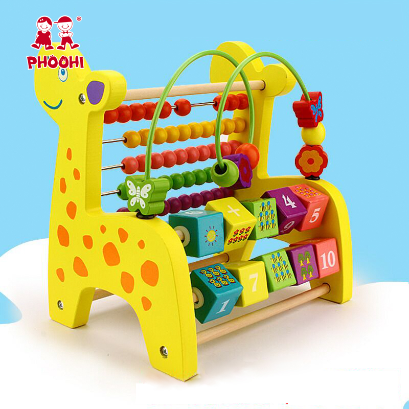 Creative Wooden Toy Multi function Counting Beads Fruit Kids Math Montessori Educational Toys for Children Colorful in Math Toys from Toys Hobbies