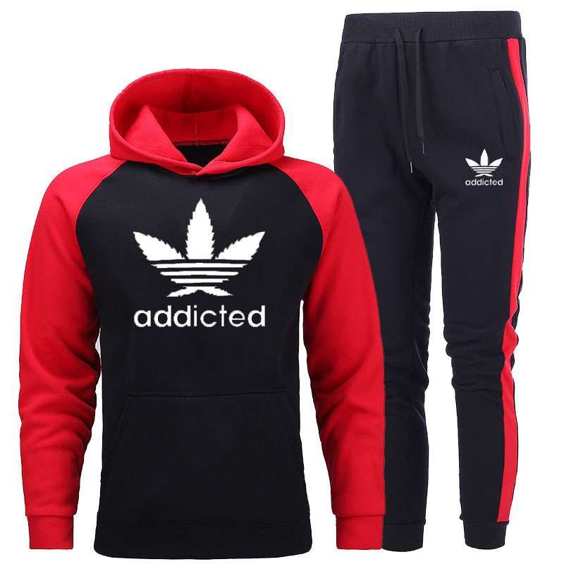 New Men's Sets Hoodie And Pants Sweatsuit Male Sportswear Tracksuit Men Set 2020 Brand Sporting Suit Track Sweat Print Jackets