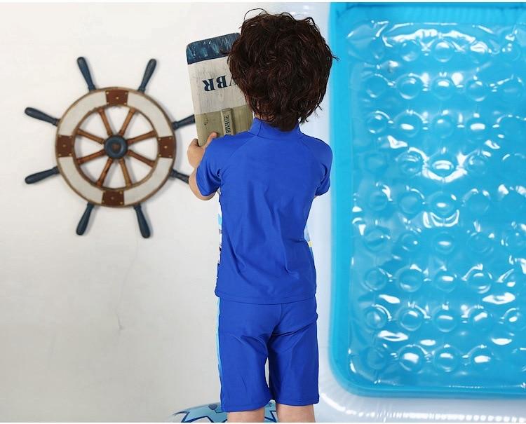 KID'S Swimwear BOY'S Swimsuit One-piece Half Sleeve Tour Bathing Suit Thomas Children Bathing Suit