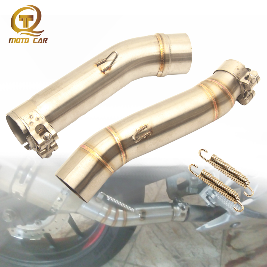 Motorcycle Exhaust Adapter Link Pipe Escape Scooter Middle Tube Muffler for Honda CBR300 CBR500 CBR 500 CB500F CBR 300 CB400 400|Exhaust & Exhaust Systems| |  - title=