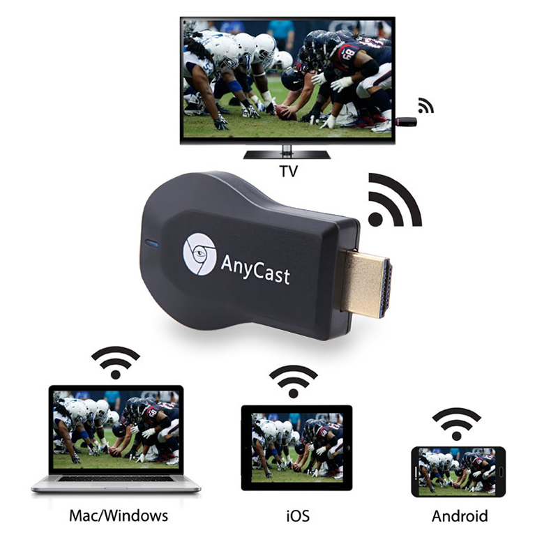 M2 Plus TV stick Wifi Display Receiver Anycast DLNA Miracast Airplay HDMI-compatible Adapter For Android IOS Mirascreen Dongle