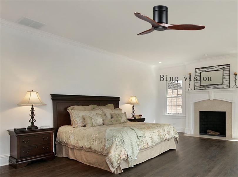 Latest Wooden Ceiling Fan Wood with Remote Control Ceiling Fans Without Light Retro Fan Energy Saving Ventilador De Techo