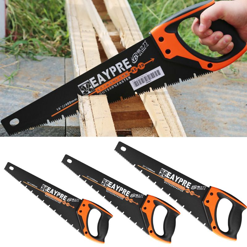 New Universal Hand Saw Fast Cutting Wood Plastic Tube Trim Gardening Branch Woodworking Household 3 Sizes Qiang